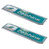 NFL - Miami Dolphins Embossed Truck Emblem 2-pk 1.75 x 8.25 - Primary Logo & Wordmark