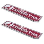University of Alabama Embossed Truck Emblem 2-pk 1.75 x 8.25 - Primary Logo & Wordmark
