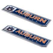 Auburn University Embossed Truck Emblem 2-pk 1.75 x 8.25 - Primary Logo & Wordmark