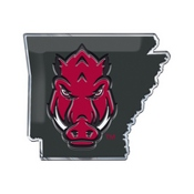 University of Arkansas Embossed State Emblem 3.25 x 3.25 -