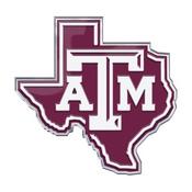 Texas A&M University Embossed State Emblem 3.25 x 3.25 -
