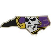East Carolina University Embossed State Emblem 3.25 x 3.25 -