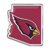NFL - Arizona Cardinals Embossed State Emblem 3.25 x 3.25 -