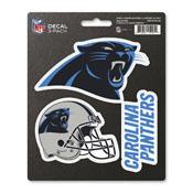 NFL - Carolina Panthers Decal 3-pk 5 x 6.25 - 3 Various Logos / Wordmark