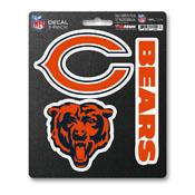 NFL - Chicago Bears Decal 3-pk 5 x 6.25 - 3 Various Logos / Wordmark