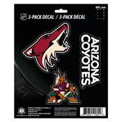 NHL - Arizona Coyotes Decal 3-pk 5 x 6.25 - 3 Various Logos / Wordmark