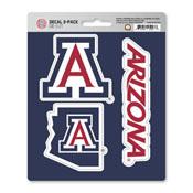 University of Arizona Decal 3-pk 5 x 6.25 - 3 Various Logos / Wordmark