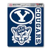 Brigham Young University Decal 3-pk 5 x 6.25 - 3 Various Logos / Wordmark
