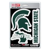 Michigan State University Decal 3-pk 5 x 6.25 - 3 Various Logos / Wordmark