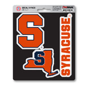 Syracuse University Decal 3-pk 5 x 6.25 - 3 Various Logos / Wordmark