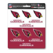 NFL - Arizona Cardinals Mini Decal 12-pk 5 x 6.25 - 12 Various Logos / Wordmark