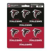 NFL - Atlanta Falcons Mini Decal 12-pk 5 x 6.25 - 12 Various Logos / Wordmark