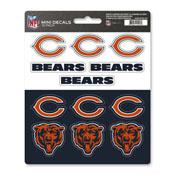 NFL - Chicago Bears Mini Decal 12-pk 5 x 6.25 - 12 Various Logos / Wordmark