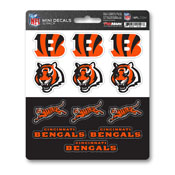 NFL - Cincinnati Bengals Mini Decal 12-pk 5 x 6.25 - 12 Various Logos / Wordmark