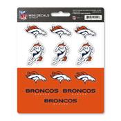 NFL - Denver Broncos Mini Decal 12-pk 5 x 6.25 - 12 Various Logos / Wordmark