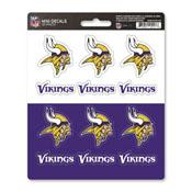 NFL - Minnesota Vikings Mini Decal 12-pk 5 x 6.25 - 12 Various Logos / Wordmark