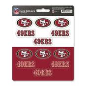 NFL - San Francisco 49ers Mini Decal 12-pk 5 x 6.25 - 12 Various Logos / Wordmark