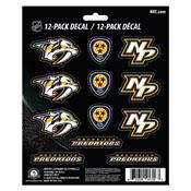 NHL - Nashville Predators Mini Decal 12-pk 5 x 6.25 - 12 Various Logos / Wordmark