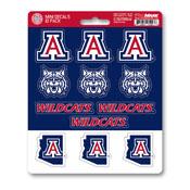 University of Arizona Mini Decal 12-pk 5 x 6.25 - 12 Various Logos / Wordmark