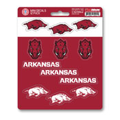 University of Arkansas Mini Decal 12-pk 5 x 6.25 - 12 Various Logos / Wordmark