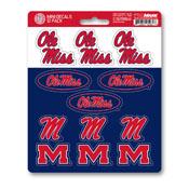 University of Mississippi (Ole Miss) Mini Decal 12-pk 5 x 6.25 - 12 Various Logos / Wordmark