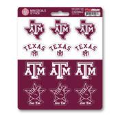 Texas A&M University Mini Decal 12-pk 5 x 6.25 - 12 Various Logos / Wordmark