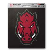 University of Arkansas Matte Decal 5 x 6.25 -