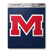 University of Mississippi (Ole Miss) Matte Decal 5 x 6.25 -