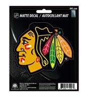 NHL - Chicago Blackhawks Matte Decal 5 x 6.25 - Blackhawks Primary Logo