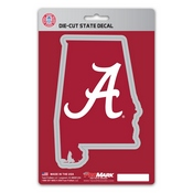 University of Alabama State Shape Decal 5 x 6.25 -