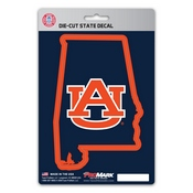 Auburn University State Shape Decal 5 x 6.25 -