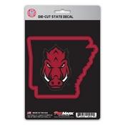 University of Arkansas State Shape Decal 5 x 6.25 -