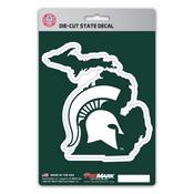 Michigan State University State Shape Decal 5 x 6.25 -