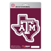 Texas A&M University State Shape Decal 5 x 6.25 -
