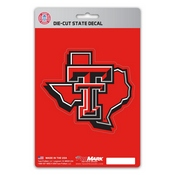 Texas Tech University State Shape Decal 5 x 6.25 -