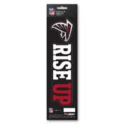 NFL - Atlanta Falcons Team Slogan Decal 3 x 12 - Primary Logo & Team Slogan