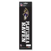 NFL - Baltimore Ravens Team Slogan Decal 3 x 12 - Primary Logo & Team Slogan