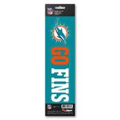 NFL - Miami Dolphins Team Slogan Decal 3 x 12 - Primary Logo & Team Slogan