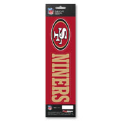 NFL - San Francisco 49ers Team Slogan Decal 3 x 12 - Primary Logo & Team Slogan