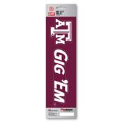 Texas A&M University Team Slogan Decal 3 x 12 - Primary Logo & Team Slogan