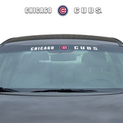 MLB - Chicago Cubs Windshield Decal 34 x 3.5 - Primary Logo and Team Wordmark