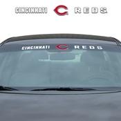 MLB - Cincinnati Reds Windshield Decal 34 x 3.5 - Primary Logo and Team Wordmark