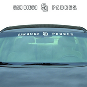 MLB - San Diego Padres Windshield Decal 34 x 3.5 - Primary Logo and Team Wordmark