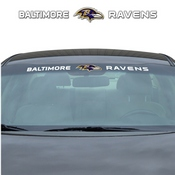 NFL - Baltimore Ravens Windshield Decal 34 x 3.5 - Primary Logo and Team Wordmark