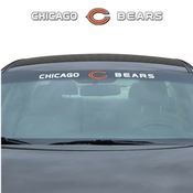 NFL - Chicago Bears Windshield Decal 34 x 3.5 - Primary Logo and Team Wordmark
