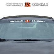 NFL - Cincinnati Bengals Windshield Decal 34 x 3.5 - Primary Logo and Team Wordmark
