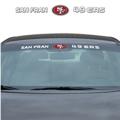 NFL - San Francisco 49ers Windshield Decal 34 x 3.5 - Primary Logo and Team Wordmark