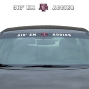 Texas A&M University Windshield Decal 34 x 3.5 - Primary Logo and Team Wordmark