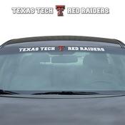 Texas Tech University Windshield Decal 34 x 3.5 - Primary Logo and Team Wordmark
