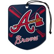 MLB - Atlanta Braves Air Freshener 2-pk 2.75 x 3.5 -